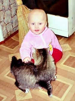 Із котиком у куточку.